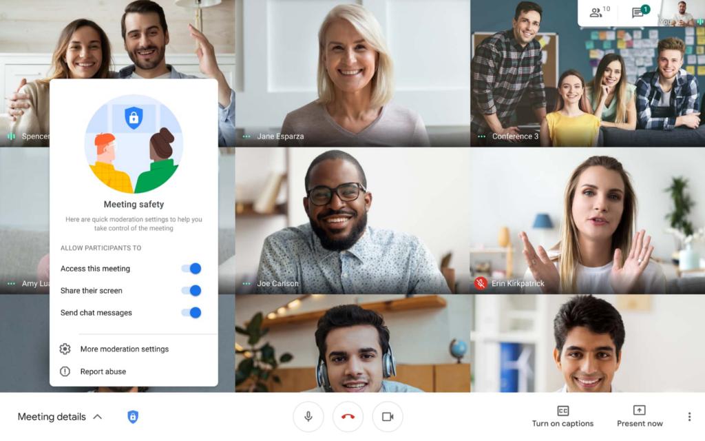 google meet kontrola bezpieczeństwa