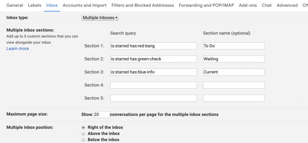 multiple mailboxes in gmail inbox zero