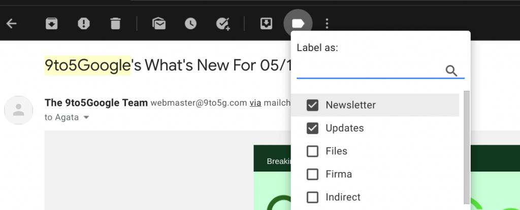labels in gmail mailbox inbox zero