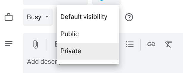 kalendarz google prywatne spotkania