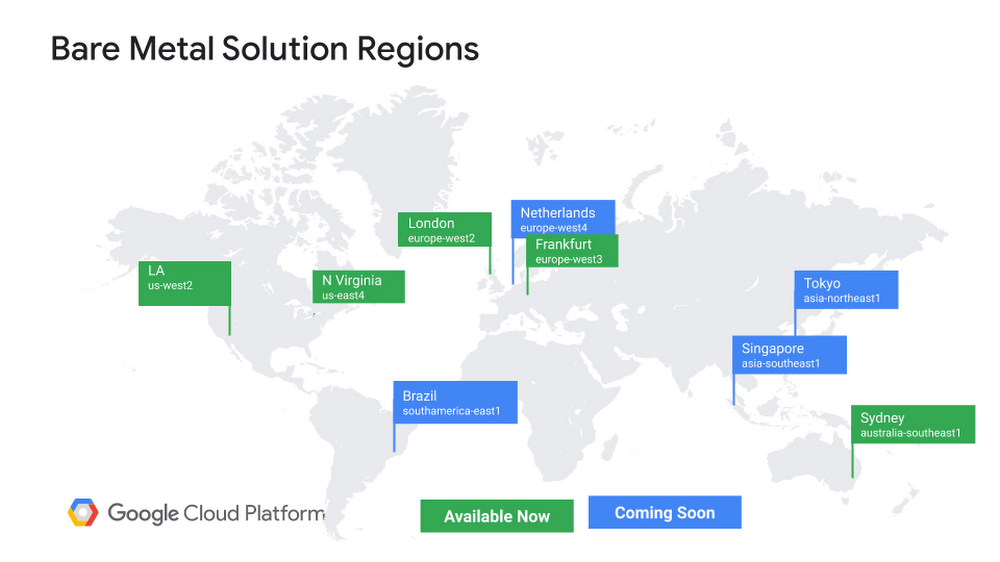 Google Cloud Platform Bare Metal Solutions